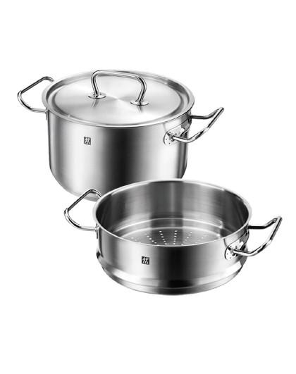ZWILLING 双立人Classic II厨房家用2件套锅不锈钢蒸笼炖锅汤锅