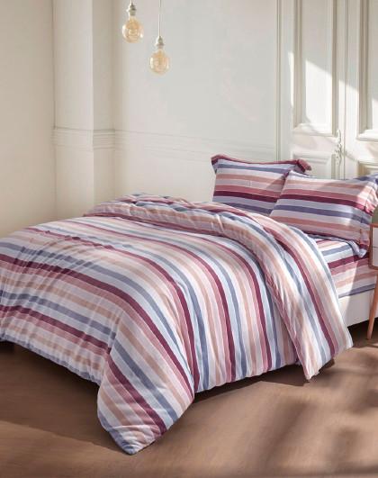 拉舍尔条纹保暖床上用品四件套