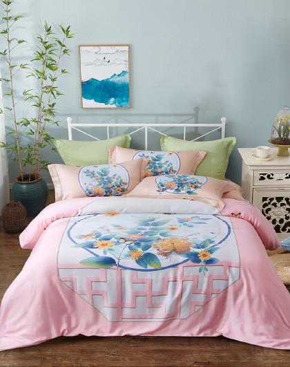 轻奢床单被套式床上套件1.5米/1.8米天丝四件套