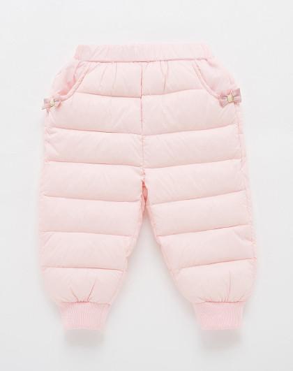笛莎 Deesha2018冬季新款童装女童冬裤宝宝轻薄羽绒裤