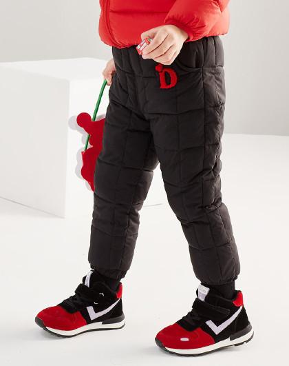 笛莎 Deesha2018冬季新款童装儿童冬裤方格夹棉女童棉裤