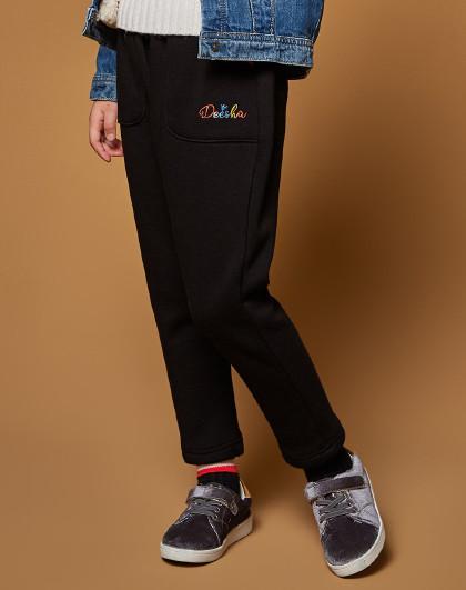 笛莎 Deesha2018冬季新款童装儿童哈伦裤女童加绒长裤