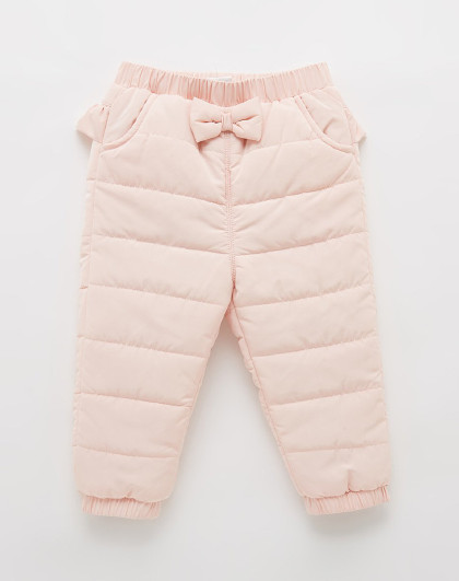 笛莎 Deesha2018冬新款童装宝宝裤子木耳边女童加厚棉裤