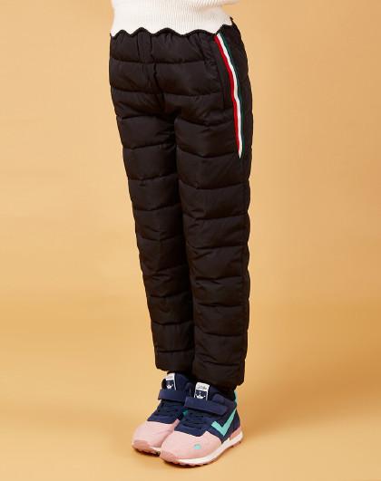 笛莎 Deesha2018冬季新款童装儿童裤子中大童女童羽绒裤