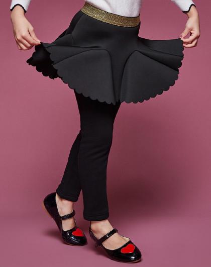 笛莎 Deesha冬季新款童装女孩裙裤女童加绒打底裙裤