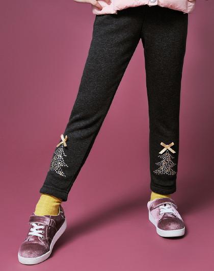 笛莎 Deesha2018冬季新款童装儿童裤子女童加绒打底裤