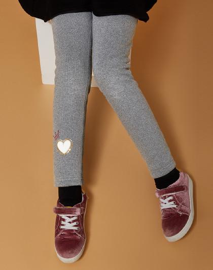 笛莎 Deesha2018冬新款童装儿童裤子加厚加绒女童打底裤