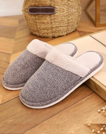 回力 保暖防滑室内地板男款女款家居拖鞋北欧风棉拖鞋月子拖鞋