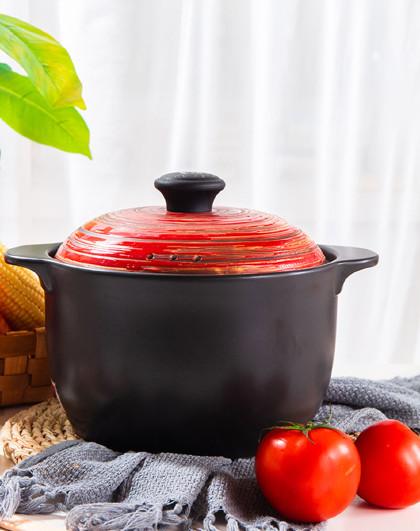 顺祥 陶瓷日式炖锅煲汤煲仔饭燃气灶4.2L煲汤锅