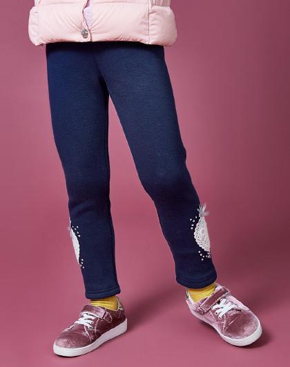 笛莎 Deesha2018冬季新款童装中大童裤子女童加绒打底裤
