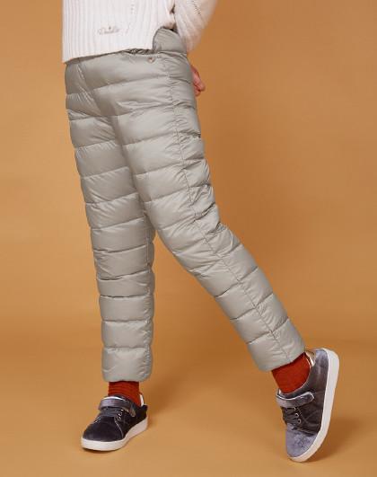 笛莎 Deesha冬季新款女童童装90绒轻薄儿童羽绒裤