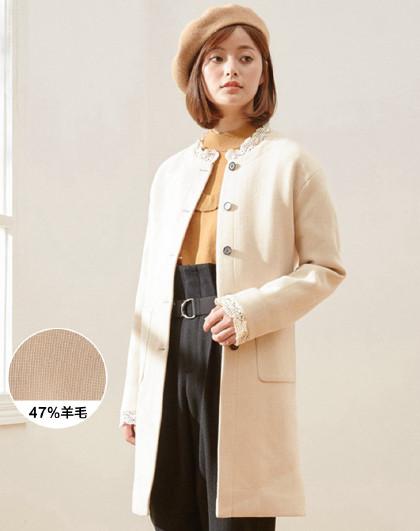 美斯特威邦 大衣女纯色韩版中长款直筒淑女风单排扣款女式大衣需要邮费5元 58元(需用券)