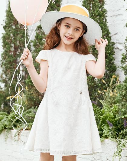 笛莎 2019夏季新款童装女童甜美气质蕾丝连衣裙