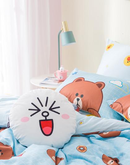 新品圆形卡通舒适枕床头靠垫床头靠枕抱枕