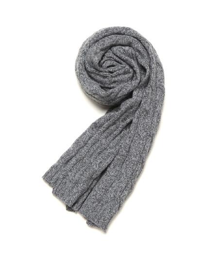 鄂尔多斯 ERDOS 秋冬纯山羊绒绞花男式围巾
