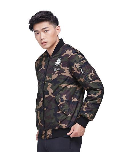 特步 XTEP 男款时尚保暖防风薄棉服外套