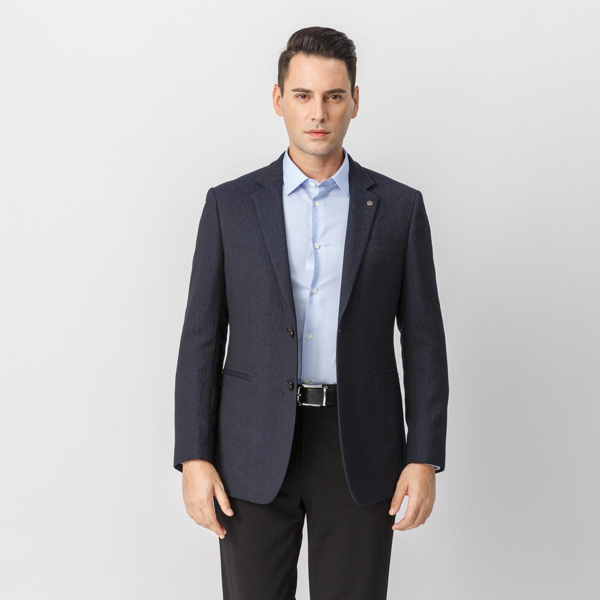 鄂尔多斯 MEN'S 秋冬新品商务休闲男士西装外套便西