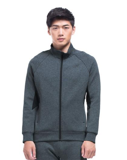 特步 XTEP 简约休闲运动上衣 男针织外套