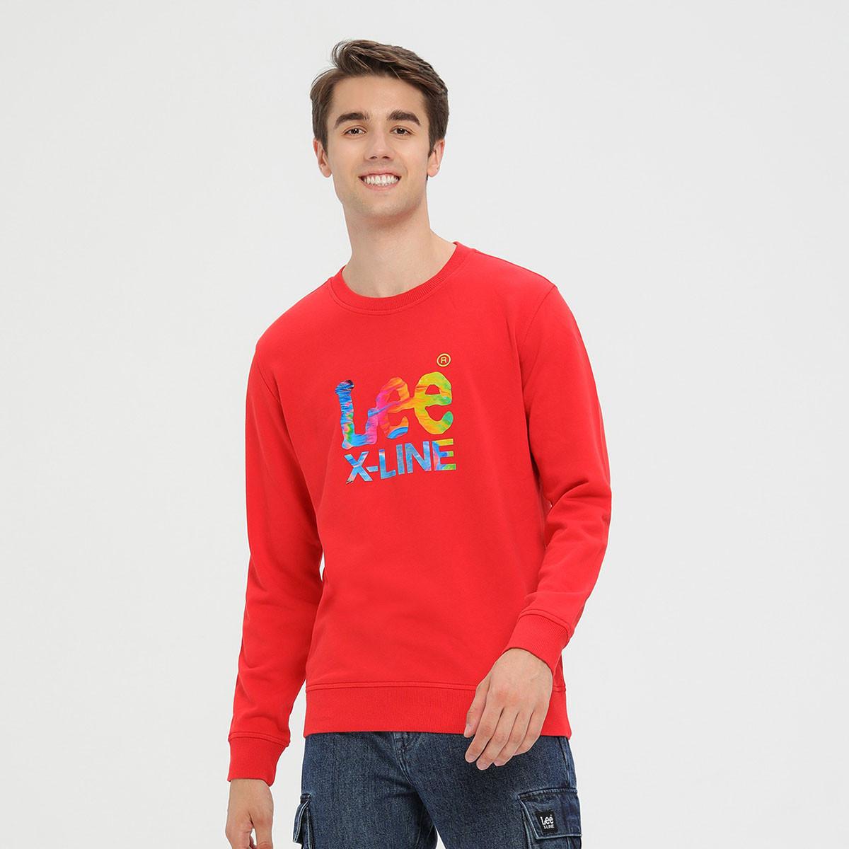 LEE XLINE男款2019秋冬新款标准版型长袖卫衣