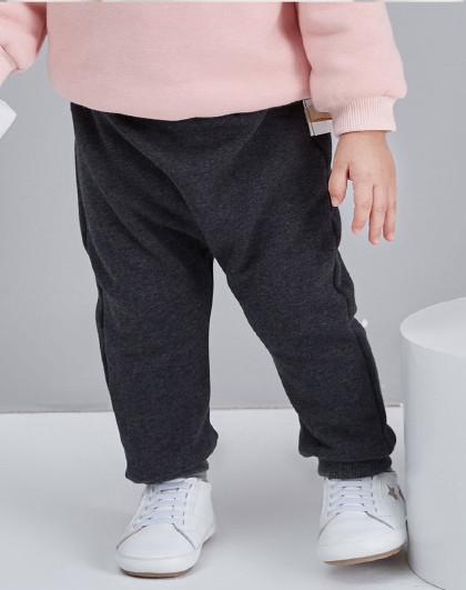 笛莎 小童立体小耳朵装饰2019冬新款加绒长裤