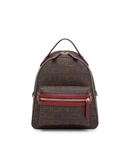 菲安妮 【旅途系列】专柜同款拉链印花旅行双肩包女背包小款