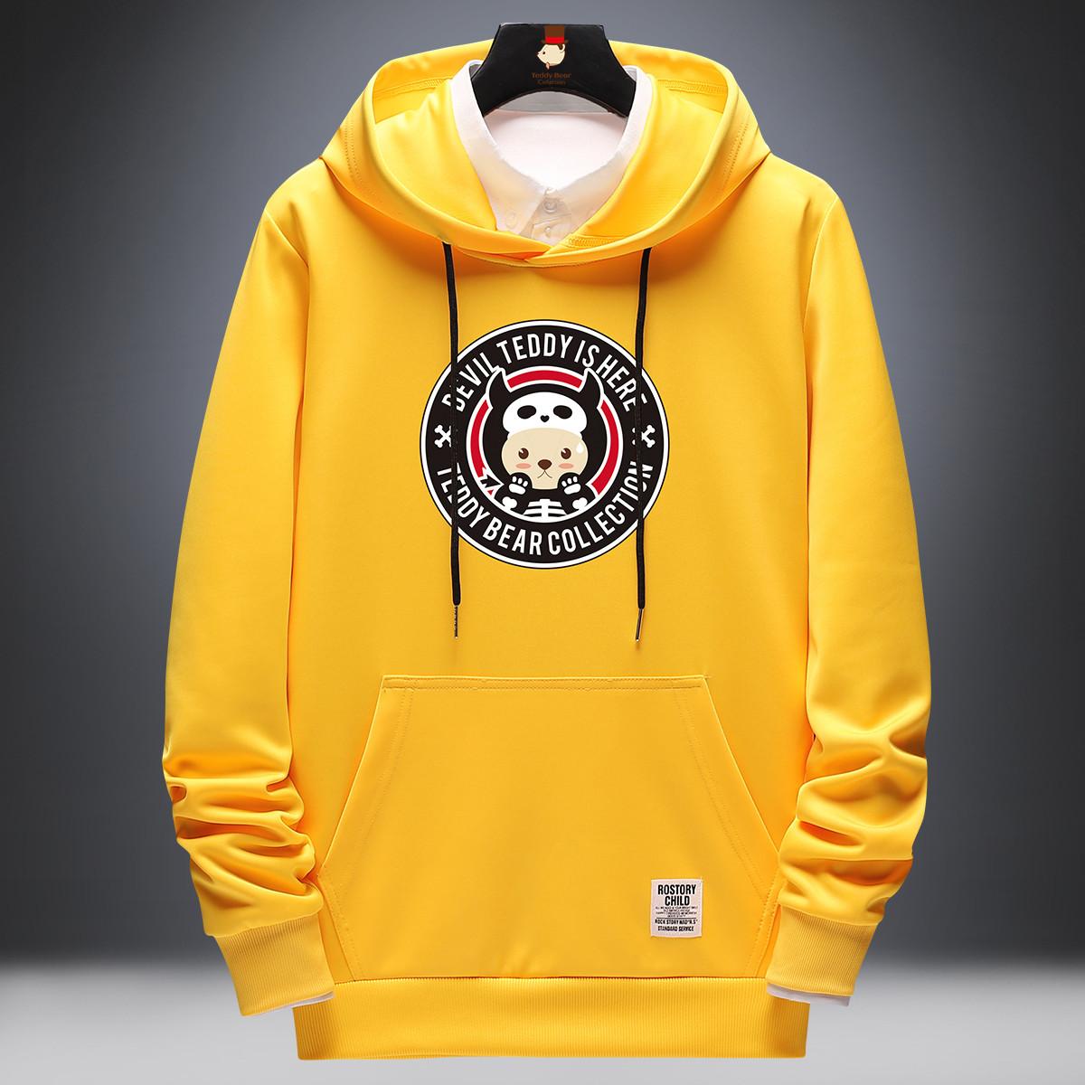 Teddy Bear Collection 泰迪先生系列卫衣 卡通印花卫衣 连帽休闲运动卫衣男