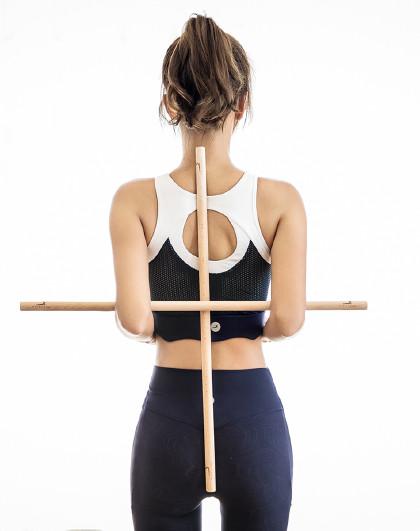 开背开肩训练棍*2根 瑜伽舒展棍 室内运动矫正背部拉伸棍2CM*80CM