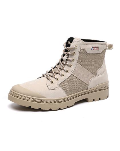 红蜻蜓 新款时尚潮流学生靴子工装靴子潮男户外靴马丁靴