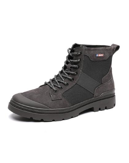 红蜻蜓 2019年冬季新款时尚潮流学生靴子工装靴子潮男户外靴马丁靴