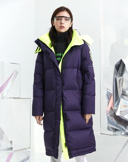 【中长款】女中长款羽绒服泡芙时尚鹅绒外套