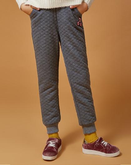 笛莎 Deesha冬季新款童装儿童冬裤加厚女童加绒裤子