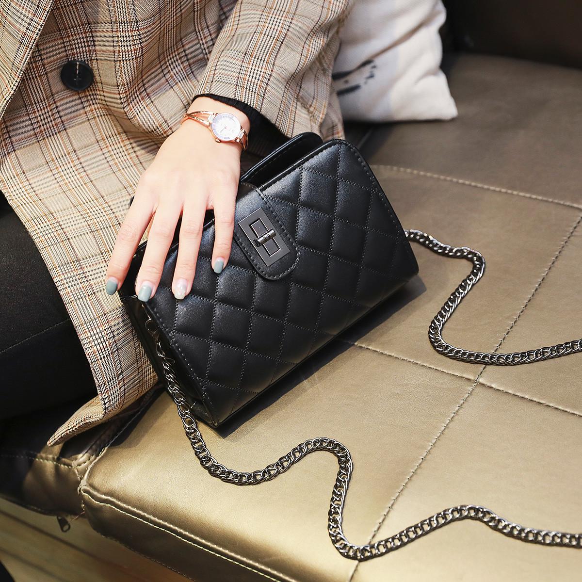 蒙娜丽莎 新款小包包斜挎包经典菱格包链条单肩包包斜挎女包