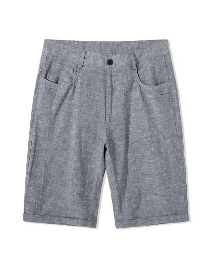 森马 旗下GSON男装夏季新款文艺亚麻面料,款式简五分休闲中裤