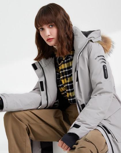 【反季清仓】GORE-TEX防水鹅绒保暖中长款羽绒服