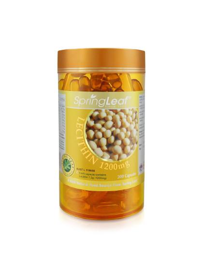 Spring Leaf 大豆卵磷脂200粒 调节内分泌 美肤 健脑 降三高