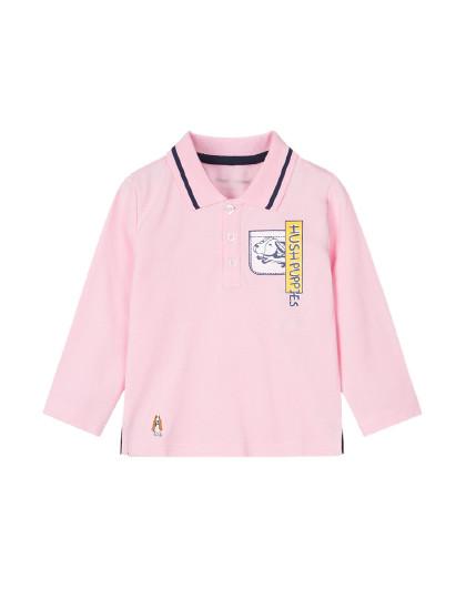 【80-130】暇步士2020年新款秋冬装儿童T恤男童长袖POLO衫小童