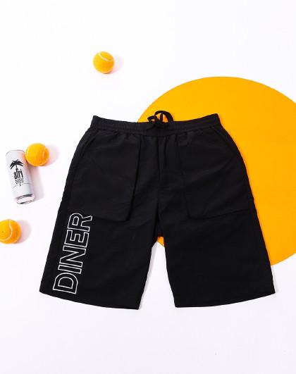 森马 旗下GLM夏季新款【镂空刺绣】立体口袋直筒舒适男士短裤