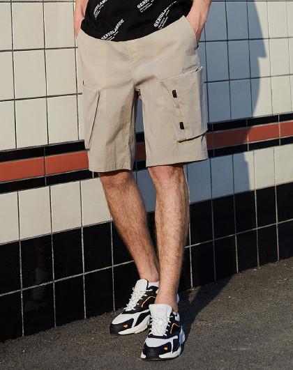 森马 旗下GLM夏季新款【立体口袋】舒适宽松工装裤子男士短裤