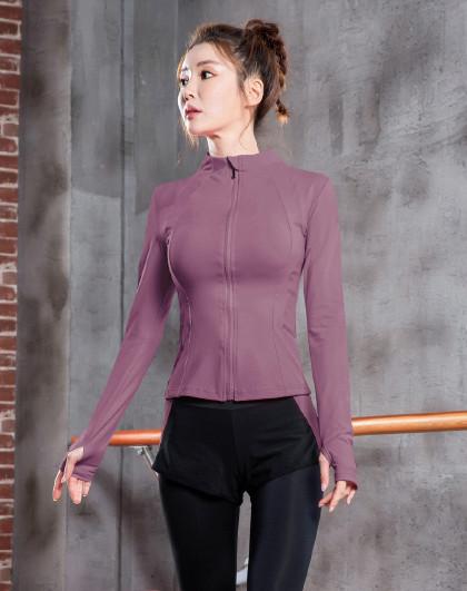 女款瑜伽健身跑步长袖外套 塑性美体