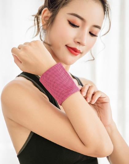 【2件起售】冷感运动护腕男女冰护腕薄款降温透气跑步擦汗健身吸汗巾护腕