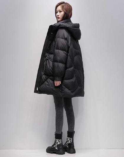 女式羽绒服2020新款冬季品质白鸭绒保暖收袖时尚羽绒服女
