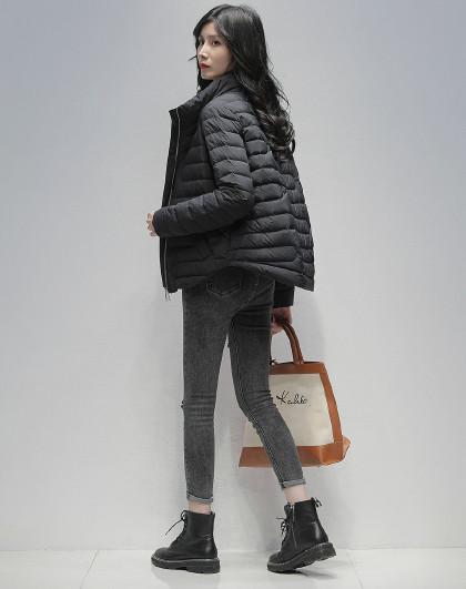 休闲短款羽绒外套20新款冬季90鸭绒保暖休闲立领羽绒服女