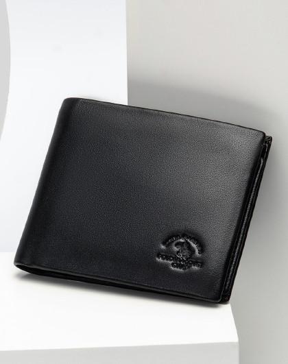 【春季热卖】男款质感商务活页多卡位横款短款钱包男包