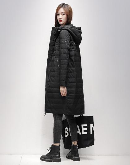 【专柜爆款】长款时尚气质2020冬季新款修身韩版大码羽绒服女