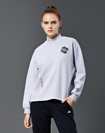 Kappa 卡帕kappa 运动休闲 字母印花 女款运动套头卫衣
