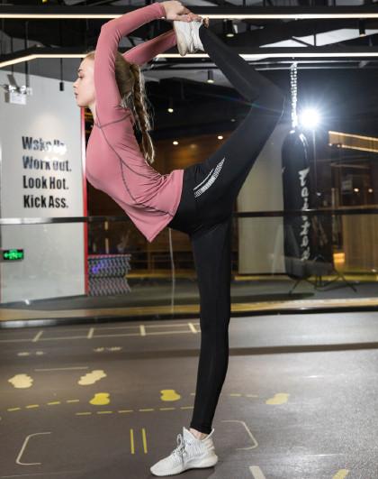 2020春款新品 女款瑜伽健身跑步长裤 塑形美体 简约百搭