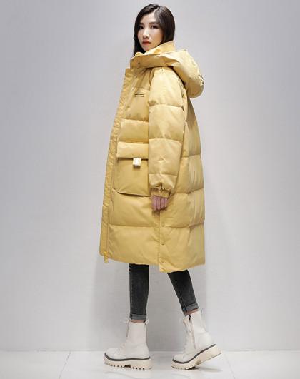 韩版宽松中长款羽绒服品质鸭绒冬季新款防寒保暖时尚羽绒服女