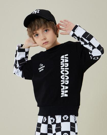 男童假两件圆领卫衣2021春装新款儿童长袖上衣打底衫韩版