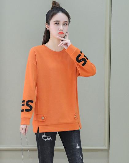【女式卫衣】女式运动潮流时尚字母设计套头圆领卫衣