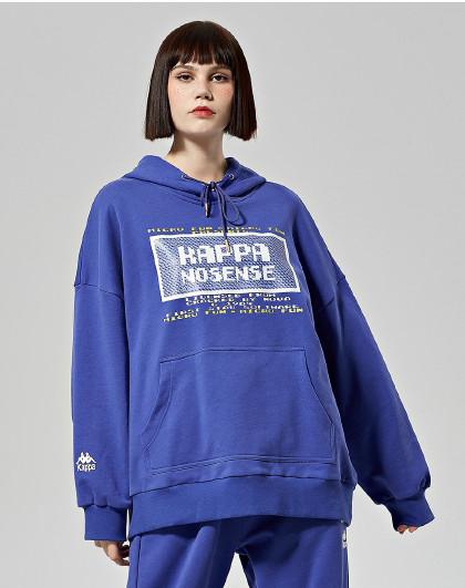 卡帕KAPPA 运动百搭 中性款大logo连帽套头卫衣